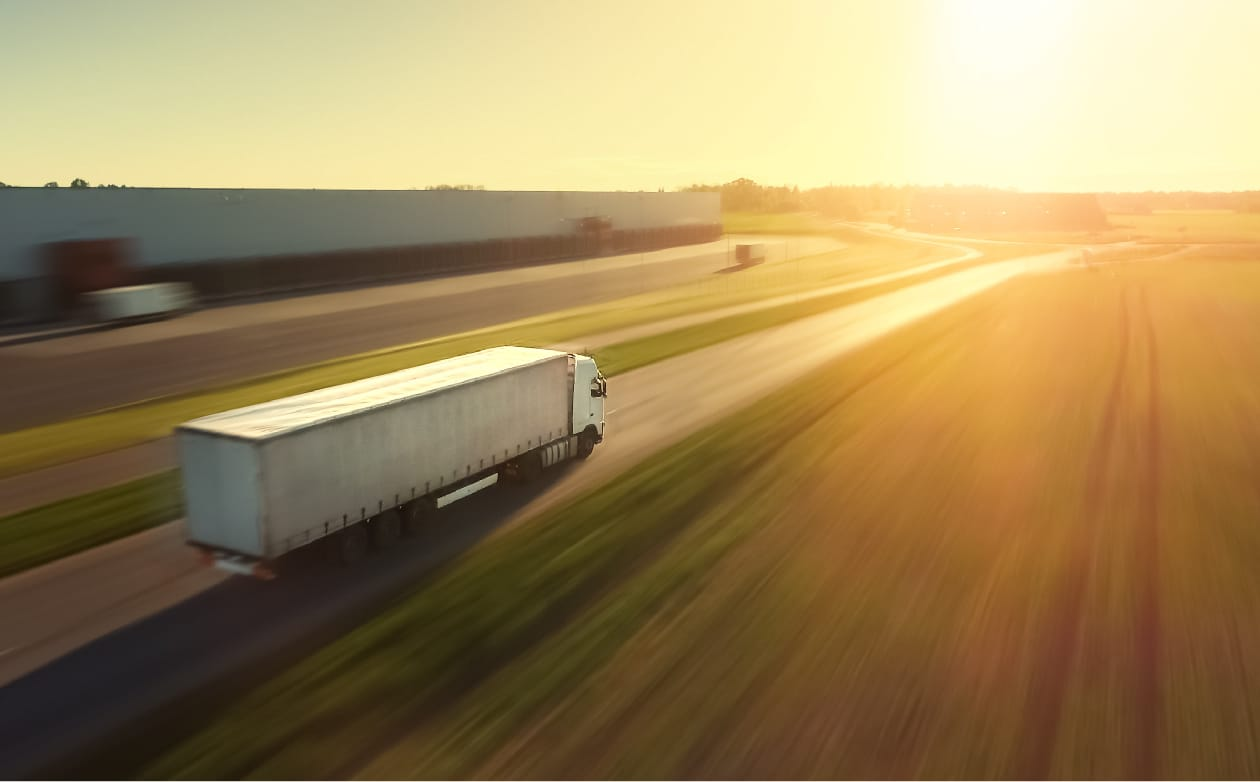 Freight Truck on Highway | Less Fuel Consumption Means a Healthier Planet